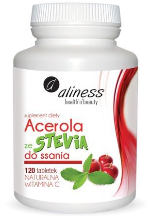 Acerola z stewią do ssania 125 mg - 120 tabletek