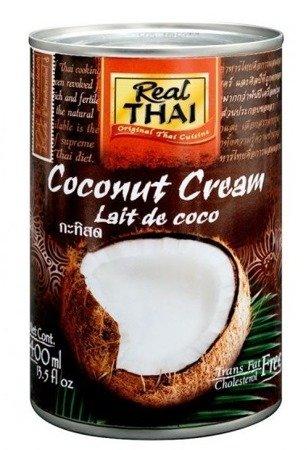 Krem kokosowy (95% wyciągu z kokosa) w puszce 400ml - Real Thai