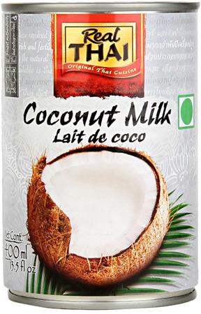 Mleko kokosowe Lite (55% wyciągu z kokosa) w puszce 400ml - Real Thai